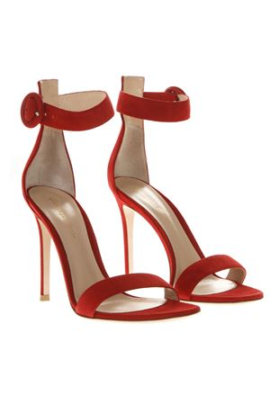 PORTOFINO RED SUEDE SANDALS SS19 GIANVITO ROSSI | 87 | G6109615RICTABASCO RED