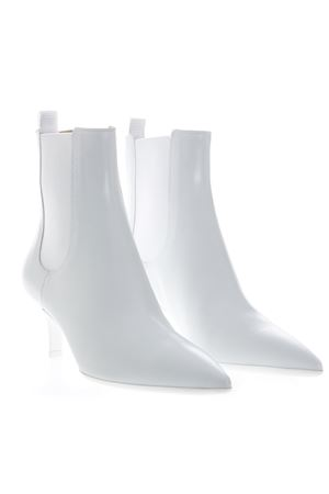 ANKLE BOOTS IN WHITE LEATHER SS 2019