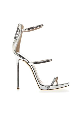 HARMONY METALLIC SILVER LEATHER SANDALS SS19 GIUSEPPE ZANOTTI | 87 | I700049SHOTARG057