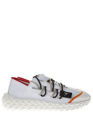 URCHIN WHITE RUBBERIZED LEATHER SNEAKERS SS 2019 GIUSEPPE ZANOTTI | 55 | RM90037ULAN002