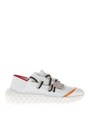 URCHIN RUBBERIZED WHITE LEATHER SNEAKERS SS 2019 GIUSEPPE ZANOTTI | 55 | RS90028C80410BC+BC001