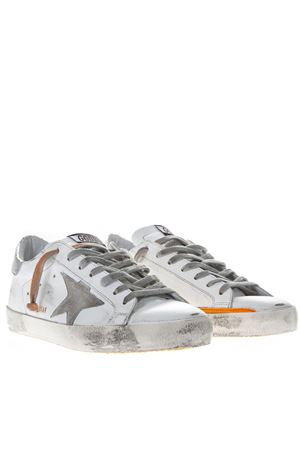 WHITE LEATHER SUPERSTAR SNEAKERS WITH CONTRASTING INSERTS SS19 GOLDEN GOOSE DELUXE BRAND | 55 | G34MS5901M38