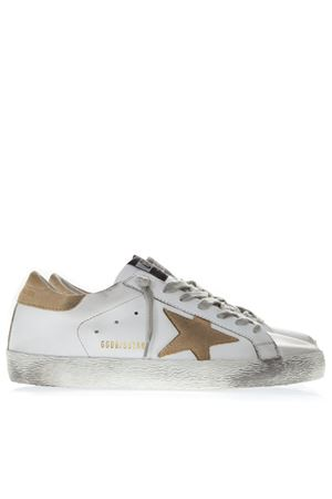 WHITE LEATHER SUPERSTAR SNEAKERS WITH SAND SUEDE INSERTS SS19 GOLDEN GOOSE DELUXE BRAND | 55 | G34MS5901N16