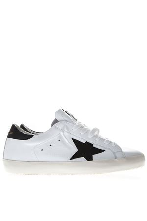 WHITE AND BLACK LEATHER SUPERSTAR SNEAKERS SS19 GOLDEN GOOSE DELUXE BRAND | 55 | G34MS5901N30