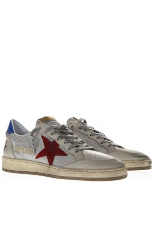 BALLSTAR WHITE MESH & LEATHER VINTAGE SNEAKERS SS19 GOLDEN GOOSE DELUXE BRAND | 55 | G34MS5921T2