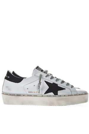 WHITE LEATHER HI STAR SNEAKERS SS19 GOLDEN GOOSE DELUXE BRAND | 55 | G34MS9451C7