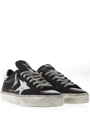 BLACK LEATHER HI STAR SNEAKERS SS19 GOLDEN GOOSE DELUXE BRAND | 55 | G34MS9451C8