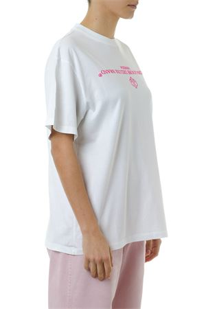 T SHIRT IN COTONE BIANCO CON STAMPA LOGO PE 2019 GOLDEN GOOSE DELUXE BRAND | 15 | G34WP0241A3