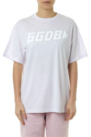 T SHIRT IN LILAC COTTON WITH LOGO PRINT SS 2019 GOLDEN GOOSE DELUXE BRAND | 15 | G34WP0241C1
