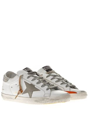 WHITE LEATHER SUPERSTAR SNEAKERS LUREX AND SUEDE INSERTS SS19 GOLDEN GOOSE DELUXE BRAND | 55 | G34WS5901M38