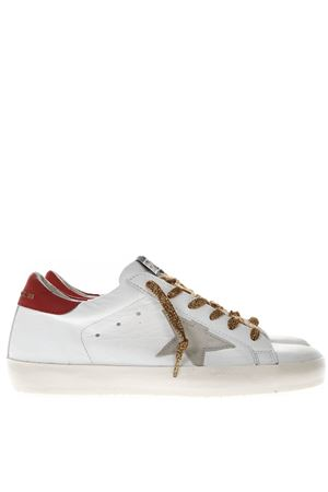 WHITE AND RED LEATHER SUPERSTAR SNEAKERS WITH CONTRASTING LACES SS19 GOLDEN GOOSE DELUXE BRAND | 55 | G34WS5901N50