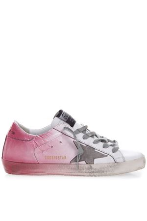 WHITE & PINK LEATHER SCRIPT SNEAKER SS19 GOLDEN GOOSE DELUXE BRAND | 55 | G34WS5901O17