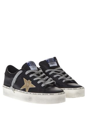 BLACK LEATHER HIGH SNEAKERS SS19 GOLDEN GOOSE DELUXE BRAND | 55 | G34WS9451A6