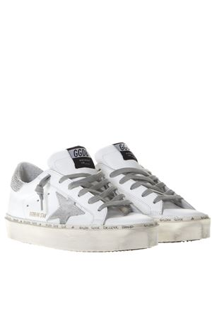 WHITE LEATHER HI STAR SNEAKERS SS19 GOLDEN GOOSE DELUXE BRAND | 55 | G34WS9451B8