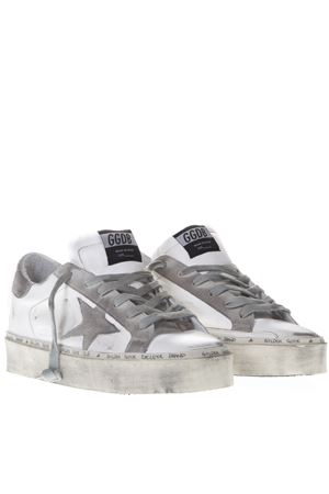 WHITE HIGH LEATHER SNEAKERS SS19 GOLDEN GOOSE DELUXE BRAND | 55 | G34WS9451G2