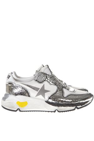 LAMINATE SILVER LEATHER SNEAKERS SS19 GOLDEN GOOSE DELUXE BRAND | 55 | G34WS9631A6