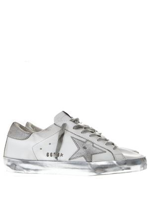0b9cf018f1f WHITE   GREY LEATHER LAMINATED SOLE SNEAKER SS19 GOLDEN GOOSE DELUXE BRAND