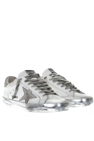 WHITE & GREY LEATHER LAMINATED SOLE SNEAKER SS19 GOLDEN GOOSE DELUXE BRAND | 55 | GC0MS5901E36