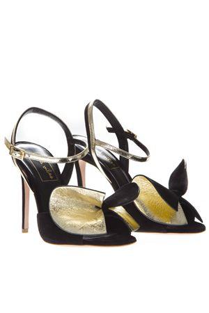 BLACK & LAMINATE GOLD LEATHER SANDALS SS19 GOOD VIBES | 87 | GV040UNIALBA