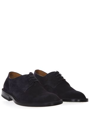 NIGHT BLUE SUEDE LACED SHOES SS19 GREEN GEORGE   48   1023LIGHT BLU