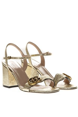 METALLIC LAMINATE LEATHER SANDAL SS 2019 GUCCI | 87 | 453379DKT007100