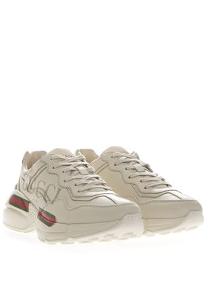 a20573f33 ... IVORY LEATHER RHYTON SNEAKERS WITH GUCCI LOGO SS 2019 GUCCI | 55 |  500877DRW009522