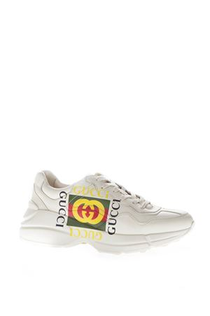 RHYTON IVORY LEATHER LOGO SNEAKERS SS 2019 GUCCI | 55 | 500878DRW009522