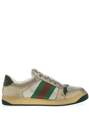 MULTICOLOR SNEAKERS SCREENER IN LEATHER WITH WEB TAPE SS 2019 GUCCI | 55 | 5461630YI209582