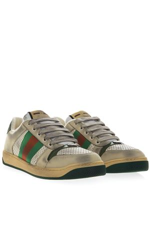SNEAKERS SCREENER MULTICOLOR IN PELLE CON NASTRO WEB PE 2019 GUCCI | 55 | 5461630YI209582