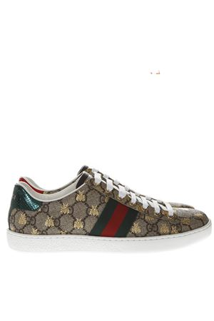 9ffef7bde BEIGE AND EBONY ACE GG SUPREME BEES SNEAKER SS 2019 GUCCI | 55 |  5500519N0208465 ...