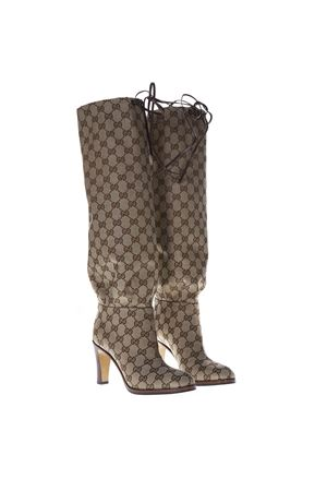 GG SUPREME BEIGE & EMOBY OVER-THE-KNEES BOOTS SS 2019 GUCCI | 52 | 551149KY9V09770
