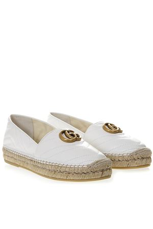 WHITE LEATHER ESPADRILLES WITH GG LOGO SS 2019 GUCCI | 144 | 551890BKO009014