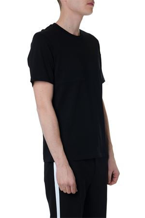 BLACK COTTON T-SHIRT WITH HELMUT LANG WRITTEN SS 2019 HELMUT LANG | 15 | I10HM5221001