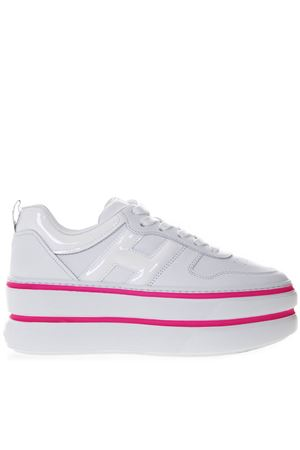 H449 WHITE LEATHER SNEAKER SS19 HOGAN CAPSULE | 55 | GYW4490BS00I6S9997