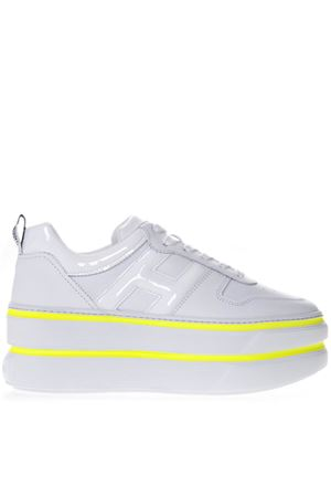 H449 WHITE LEATHER SNEAKER SS19 HOGAN CAPSULE | 55 | GYW4490BS00I6S9998