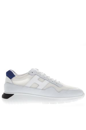 WHITE SNEAKERS INTERACTIVE³ IN FABRIC AND LEATHER  HOGAN | 55 | HXM3710AJ10IGK422D