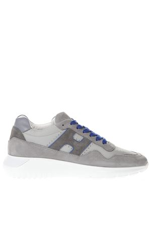GREY AND BLUE LEATHER SNEAKERS SS 2019 HOGAN | 55 | HXM3710BR30KF6672W