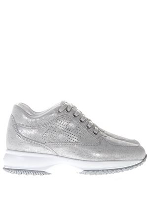 SILVER SNEAKERS INTERACTIVE IN LEATHER SS 2019 HOGAN | 55 | HXW00N00E30KAYB002
