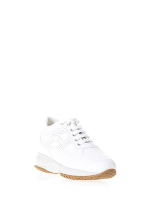 INTERACTIVE WHITE SUEDE & LEATHER SNEAKERS SS 2019 HOGAN   55   HXW00N00E30KLAB001