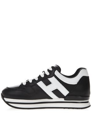 BLACK SNEAKERS H222 IN LEATHER SS19 HOGAN | 55 | HXW2220T548HQK0002