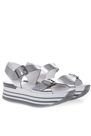 MAXI H222 SANDALS IN SILVER LEATHER SS 2019 HOGAN | 55 | HXW2940AA40SV0B200