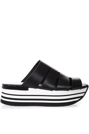 MAXI H294 BLACK LEATHER SANDALS SS 2019 HOGAN | 87 | HXW2940BP00DOWB999