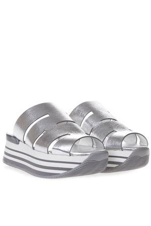 H294 SILVER CUT OUT LEATHER SANDAL SS19 HOGAN | 87 | HXW2940BP00MECB200
