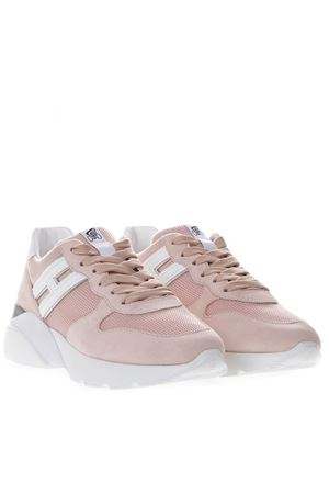 HOGAN ACTIVE ONE SNEAKERS IN PINK AND WHITE  LEATHER AND NYLON SS 2019 HOGAN | 55 | HXW3850BF50KX101GY