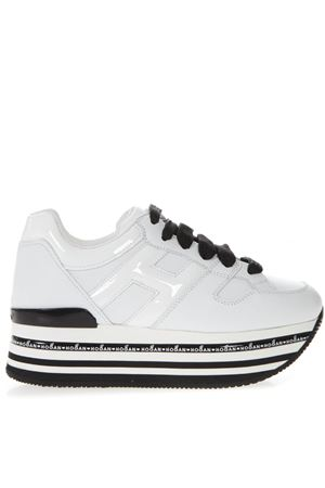 WHITE LEATHER HOGAN MAXI H222 SNEAKERS SS19 HOGAN | 55 | HXW4130T548I6SB001