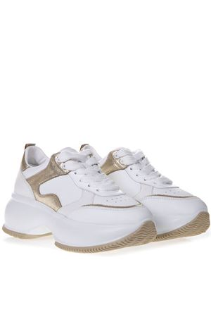 MAXI I ACTIVE WHITE LEATEHR SNEAKERS SS 2019 HOGAN | 55 | HXW4350BN50KOX0ST1