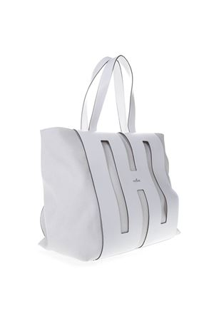 WHITE BI BAG IN LEATHER AND CANVAS SS 2019 HOGAN | 2 | KBW015A0400KSUB001