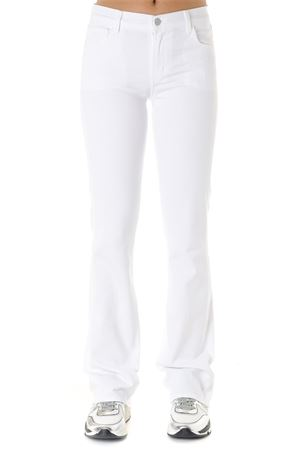 LOW RISE JEANS IN WHITE COTTON PE 2019