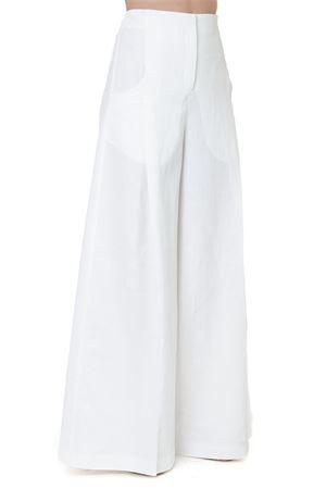 WHITE LINEN PALAZZO PANTS SS 2019 JACQUEMUS | 8 | 192PA01-19216110OFF WHITE