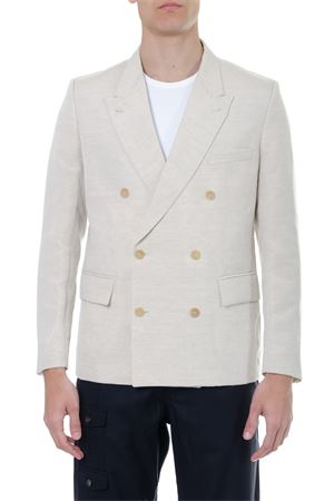 BEIGE DOUBLE BREASTED BLAZER IN MIXED LINEN SS 2019 JACQUEMUS | 14 | 195JA03-19506140NATURAL